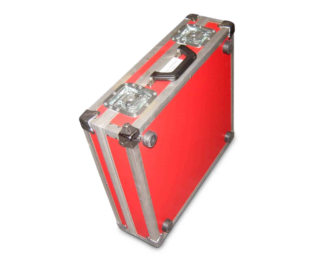 Transportkoffer apparatuur rood
