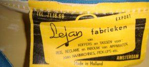 Vintage label Lejan fabrieken