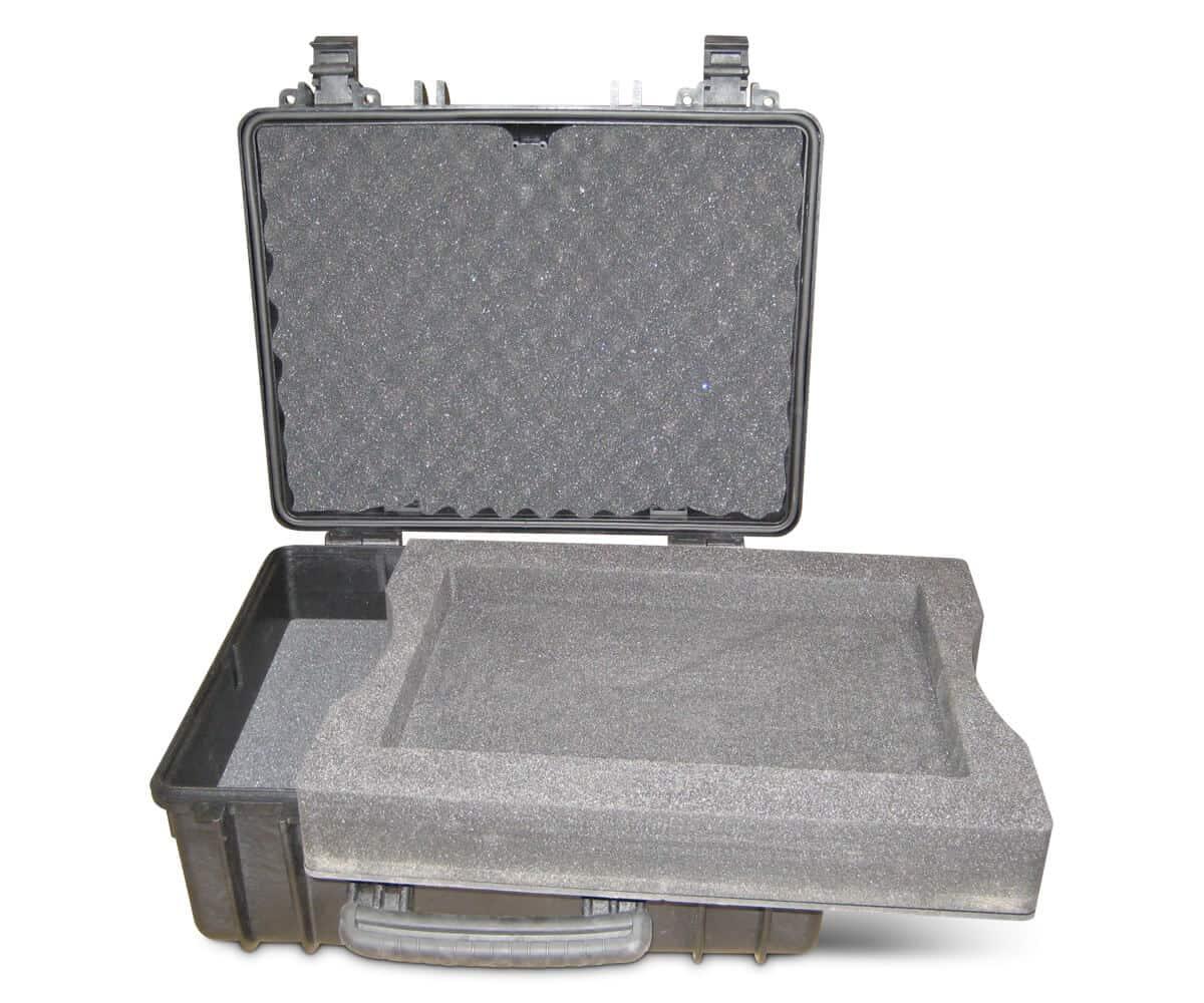 Lange koffer met wieltjes voor makkelijk transport