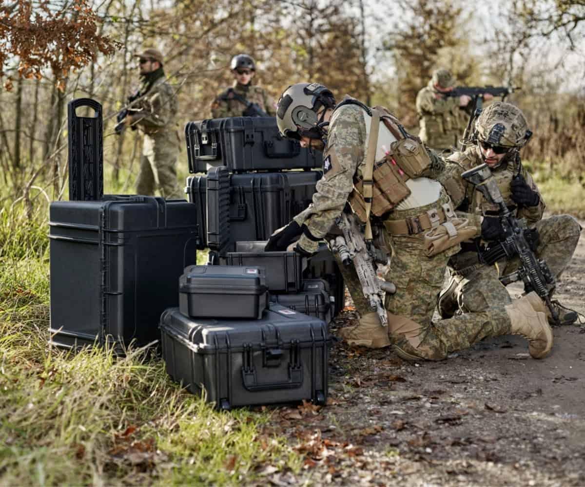 Defensie hulpdiensten waterdicht kisten