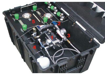 waterdicht kist voor water pressure apparatur - zoomed in