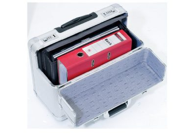 Aluminium koffer voor documenten met slot