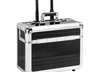 Aluminium koffer trolley met slot