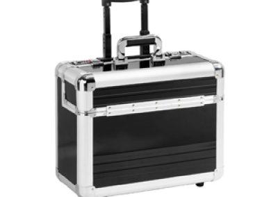 Aluminium koffer trolley met wielen