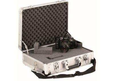 Aluminium koffer voor camera met schuim interieur