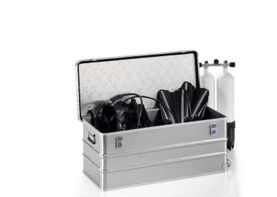 Aluminium koffer voor water pressure tech apparatuur