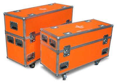 Flatscreen flightcase set