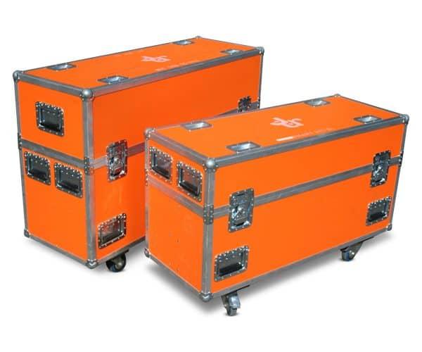 Flatscreen flightcase set met statief