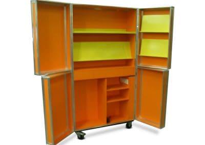 Flightcase voor Bibliotheek open