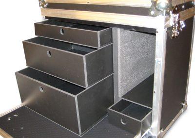 Grime profielkoffer met laden interieur