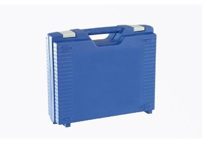 Blauwe kunststof koffer