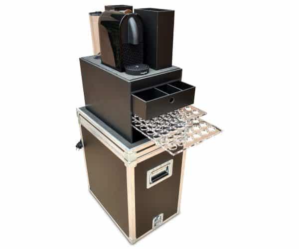 flightcase koffer voor Mobiele koffie machine