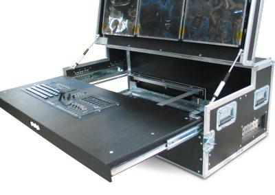 flightcase voor Mobiele video editing set