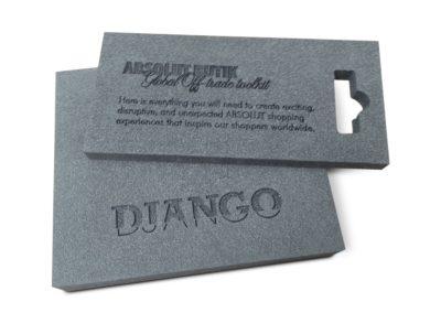 DJANGO interieur -PE hardschuim gegraveerd
