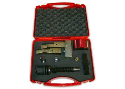 Tekno kunststof koffer met schuim inlay