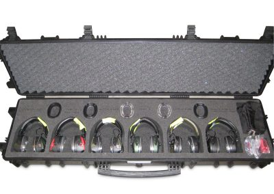 Waterdichte koffer explorer met koptelefoon inlay