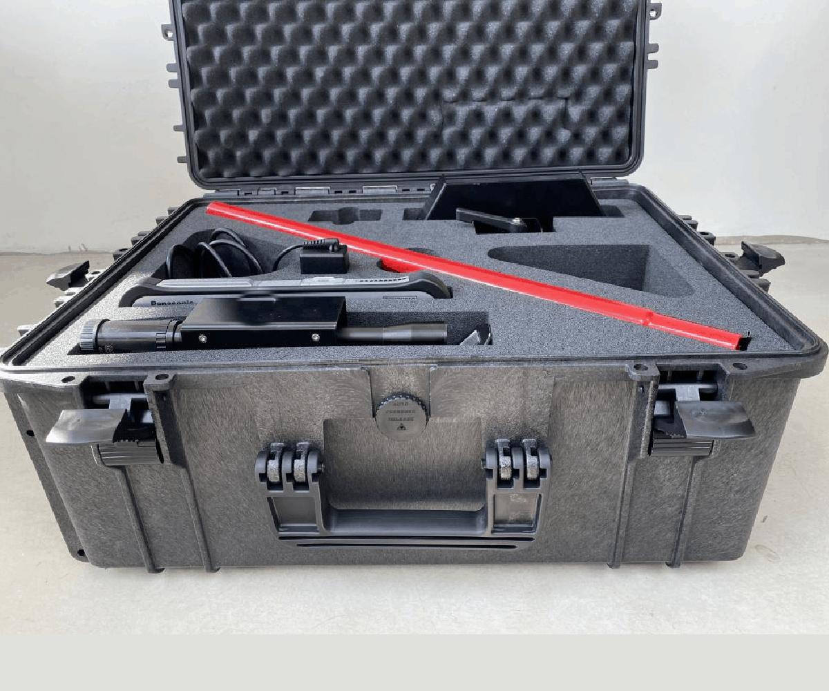 Case met Interieur van hardschuim