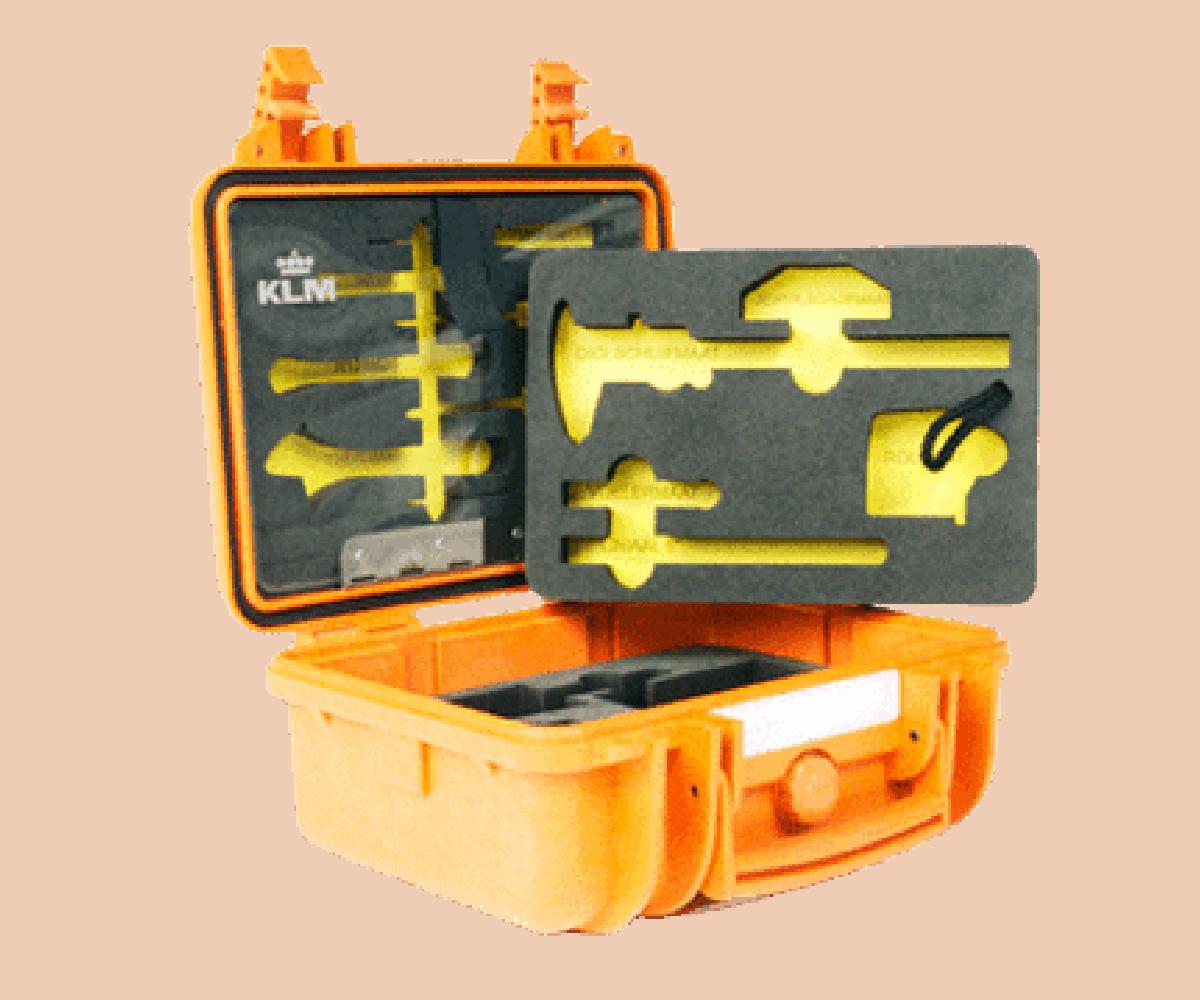 Explorer case met schuim inlay